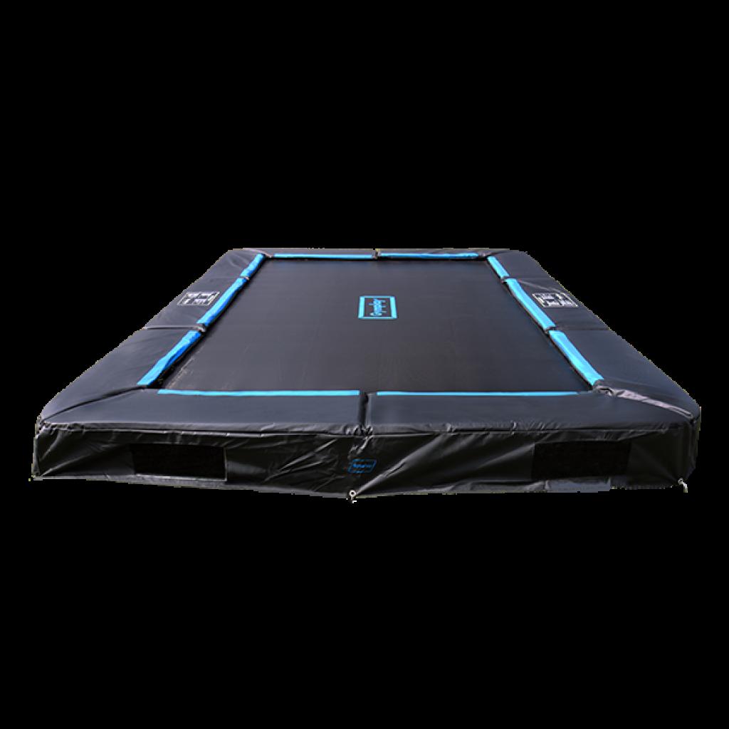 firkantet trampolin til haven - gymplay