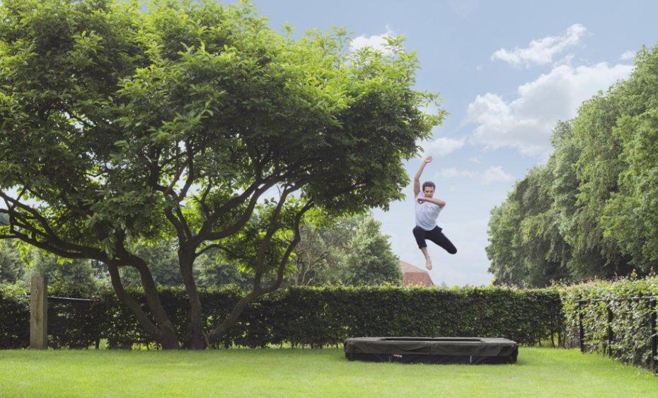 Firkantede berg trampoliner til din have