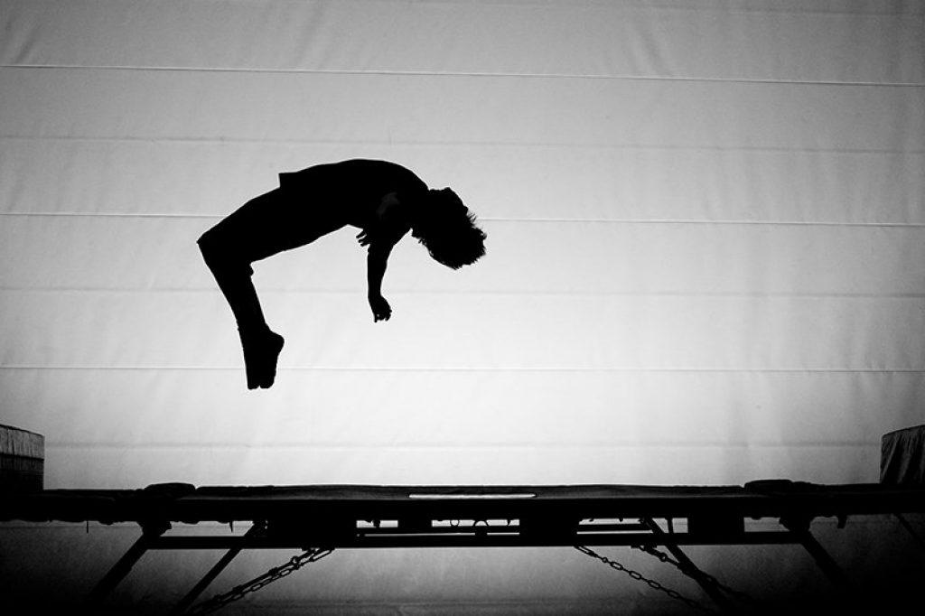 Trampolin til gymnastik spring og tumbling