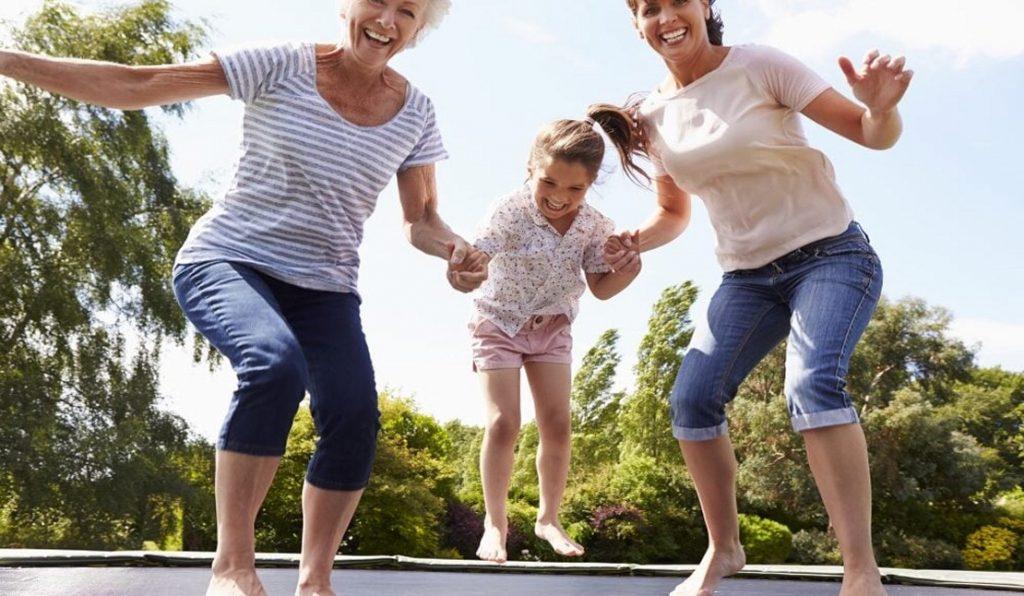 Trampolin træning for hele familien