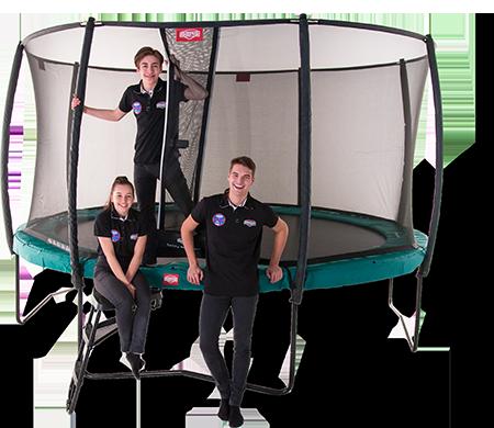 Berg trampoliner til gymnastik træning i haven